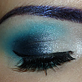 Maquillage bleu, inspiration jeffree star !