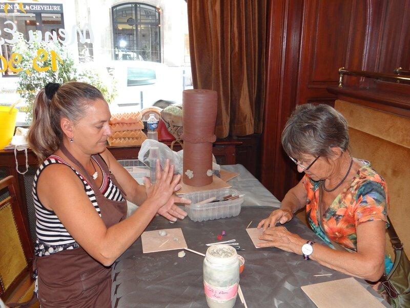 Cours ludique avec l'artiste céramiste Béatrice Allard de Dommartin-lès-Toul