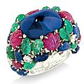 A rare 'tutti frutti' ring, by cartier