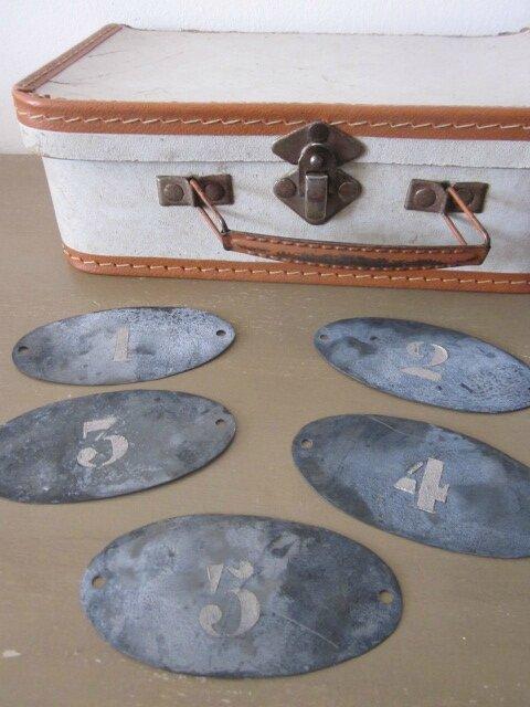 Etiquettes ovales (petites) numérotées (2)