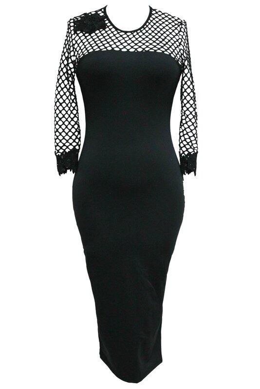 robe crayon gothique noir resille (1)