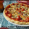 🍕 pizza aux tomates cerises farcies 🍕