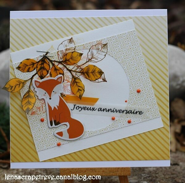 Lenascrap 4enscrap inspiration Eva 3 autumn card