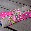 trousse rose patchwork