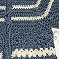 Gilet 1-3 mois Crochet laine Idéal Meije Persan 2