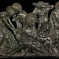 Donatello, lamentation over the dead christ, ca. 1455–1460
