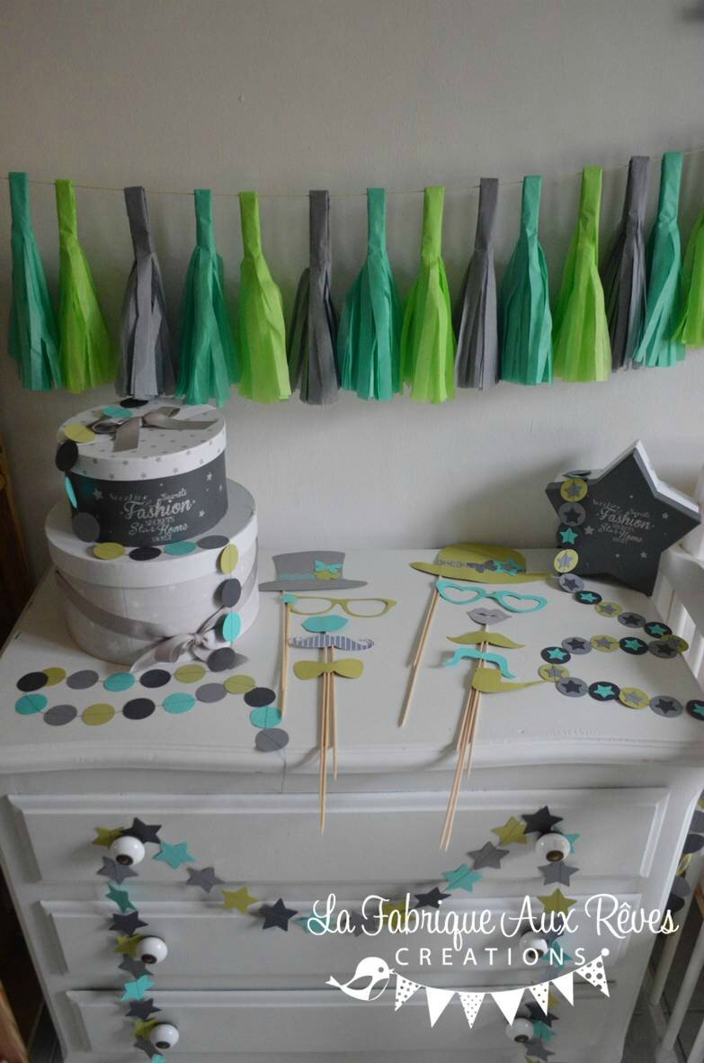 d coration bapt me f te anniversaire turquoise cara be vert anis gris vert d 39 eau gigoteuse. Black Bedroom Furniture Sets. Home Design Ideas