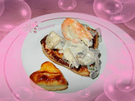 Vol au vent coeur au fruits de mer