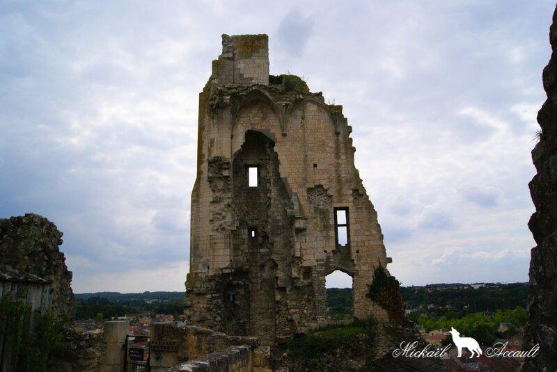 Les ruines du château baronnial (xiie siècle), ancien château des Évêques de Poitiers 3