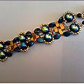 SIRIUS bracelet bleu or