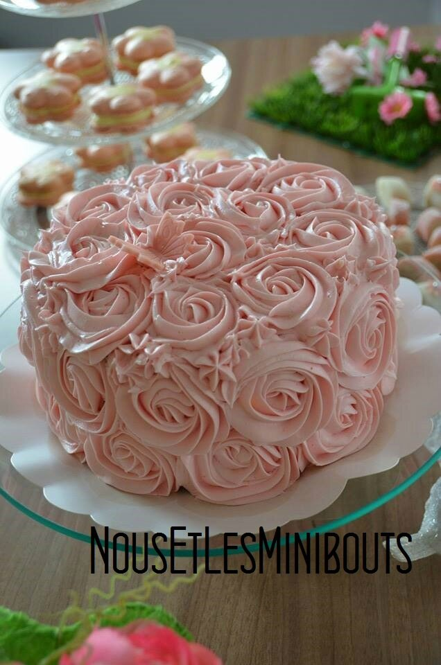 decoration gateau creme au beurre