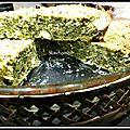Quiche sans pâte à la polenta, cime di rapa et fromages râpés