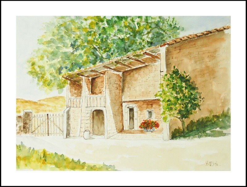 Aquarelle la maison en provence photo de ma passion for Aquarelle maison de retraite