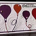 43. rose, violet, rouge et orange - montgolfières