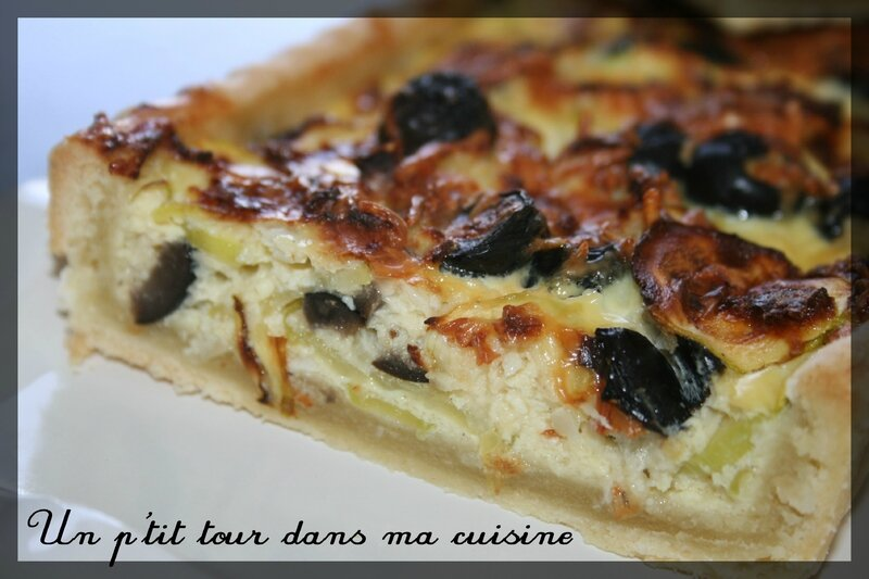 Tarte courgettes olives3