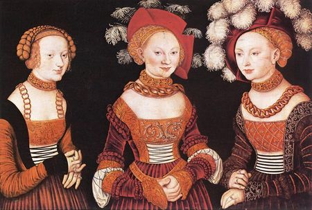 1535_Lucas_CRANACH_the_Elder__Saxon_pricesses_Sibylla__Emilia_and_Sidonia