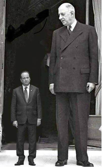 ps humour hollande de gaulle president