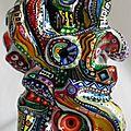 Hervé THAREL - SCHMIMBLOCK'S inca 2012 - gouache T7 sur argile - 13cm x 7cm (2)