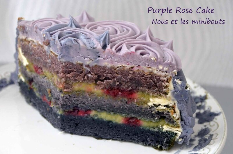 Purple Rose Cake en coupe
