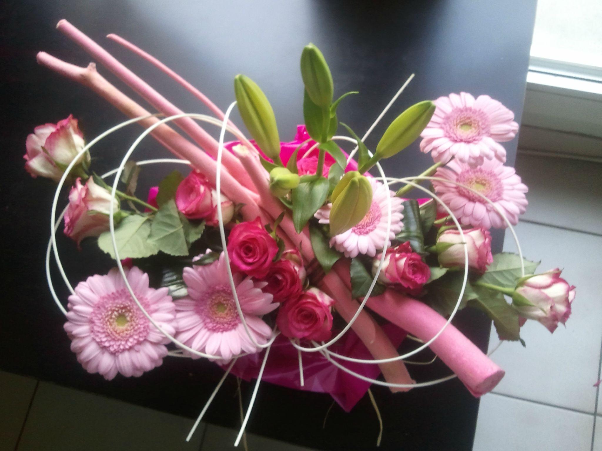 Bouquets et compositions le blog de la passion d 39 angel - Video composition florale ...