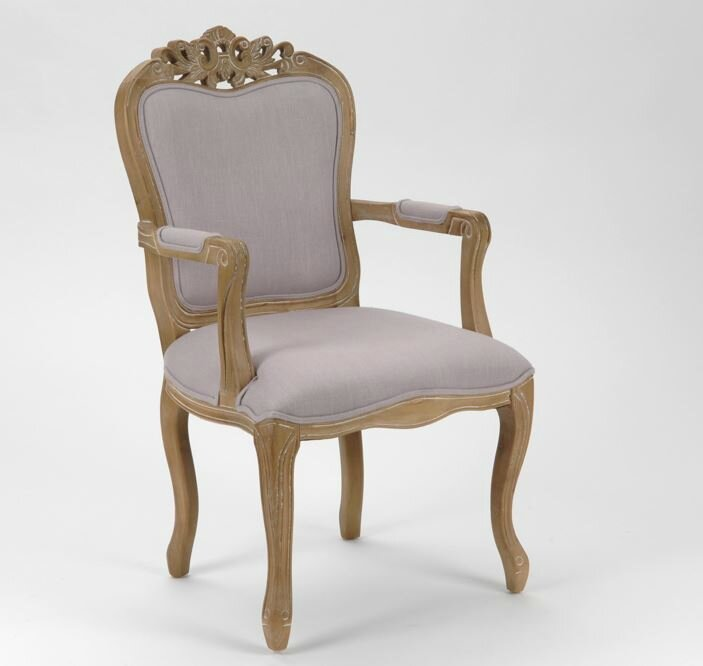 chaise baroque rose