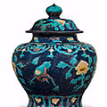 A large fahua jar and cover, guan, early 16th century