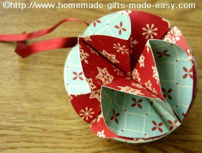 24 id es glan es sur le net 4 aux petits bonheurs de sophie - Origami boule de noel en papier ...