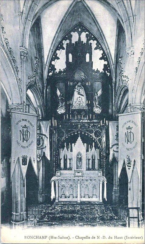 CPA Ronchamp Notre-Dame du Haut 1910 Autel a