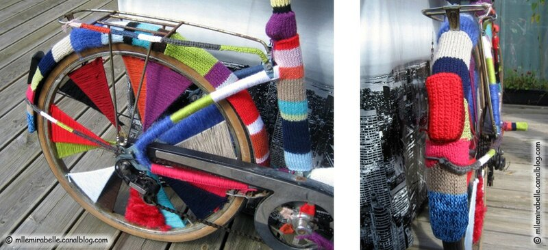 Yarnbombing bike urban knitting