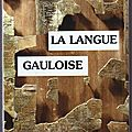 La langue gauloise : description linguistique, commentaire d'inscriptions choisies – pierre-yves lambert