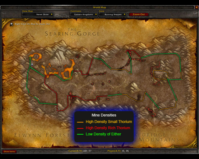 how to get to eastern plaguelands from arathi highlands