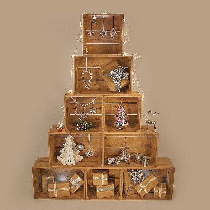 sapin-Noel-original-pyramide-caisses-bois-déco-chic