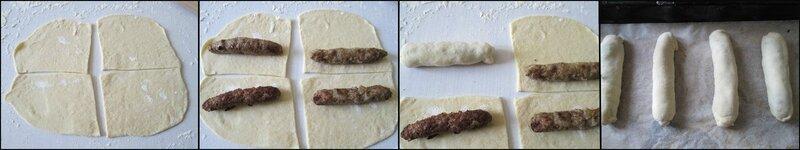 Batonnets de pain à la viande et sa sauce tomate maison - prépa 2