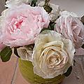 Fleurs en papier crépon avec Janny