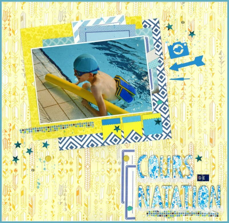scrap pour the memory nest blogorel piscine