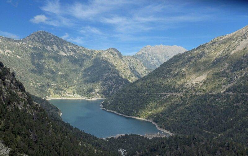 lac-d-oredon vue du barrage de cap de long