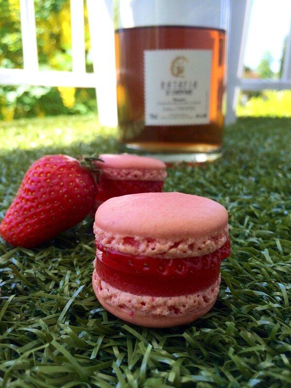 Macarons fraise ratafia 1