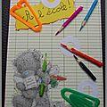 septembre : la page d'écolier