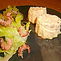 Flans saumon poivrons