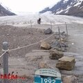 Level of Athabasca Glacier in 1992.