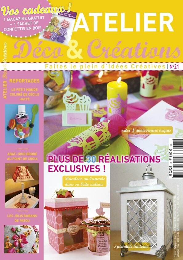Magazine l 39 atelier deco et creations le scrap de - Magazine de decoration interieure gratuit ...