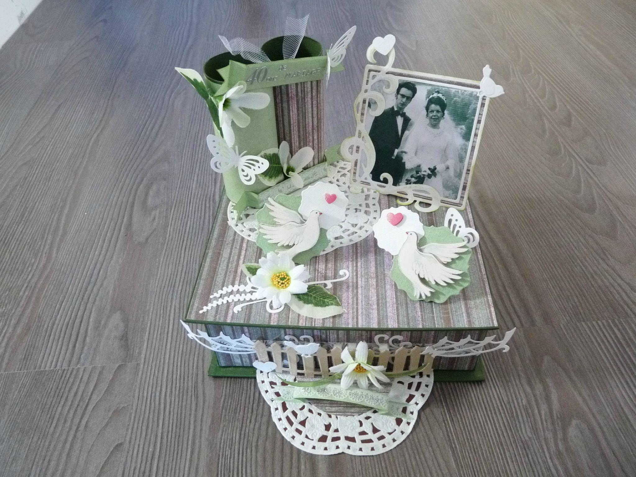 boite 40 ans de mariage l 39 atelier d 39 elfenanou. Black Bedroom Furniture Sets. Home Design Ideas