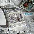 Marimerveille coussin Atelier du Père Noël (bleu)