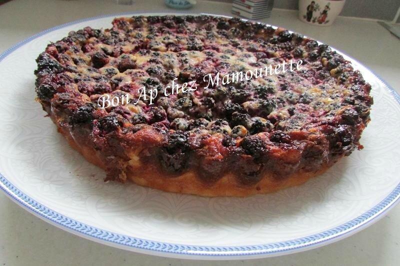 gâteau crémeux aux mûres sauvages 006