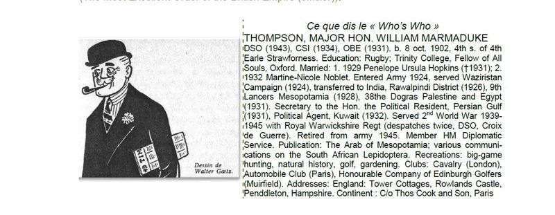 Who's who - Marmaduke Thompson, major