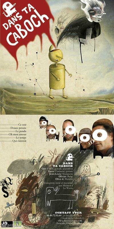 Recherche de jaquette pour le nouvel EP de Dans ta Caboch
