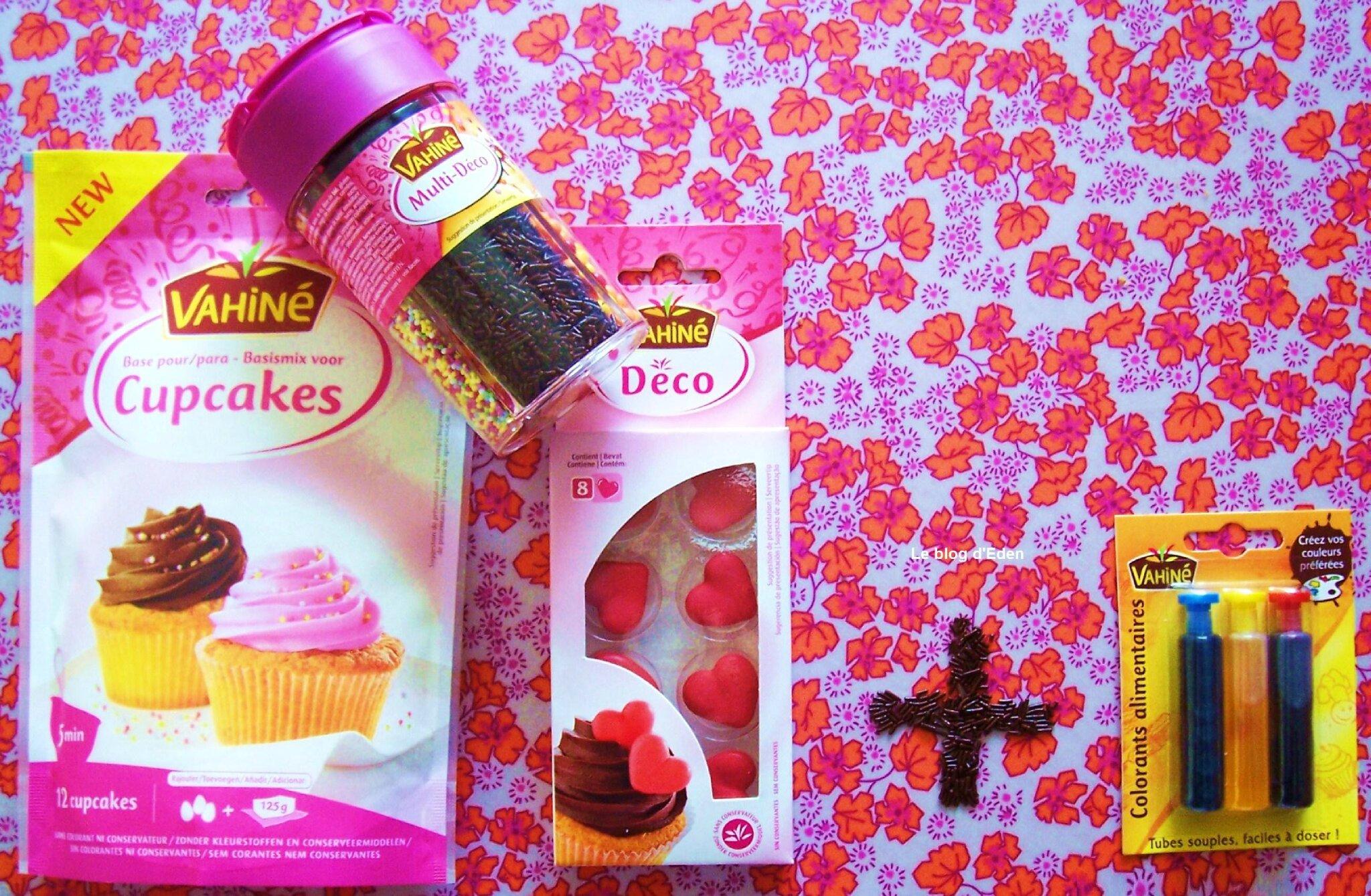 test vahin base pour cupcakes et ses colorants alimentaires - Cupcake Colorant Alimentaire