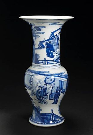 A_blue_and_white_porcelain_yenyen_vase