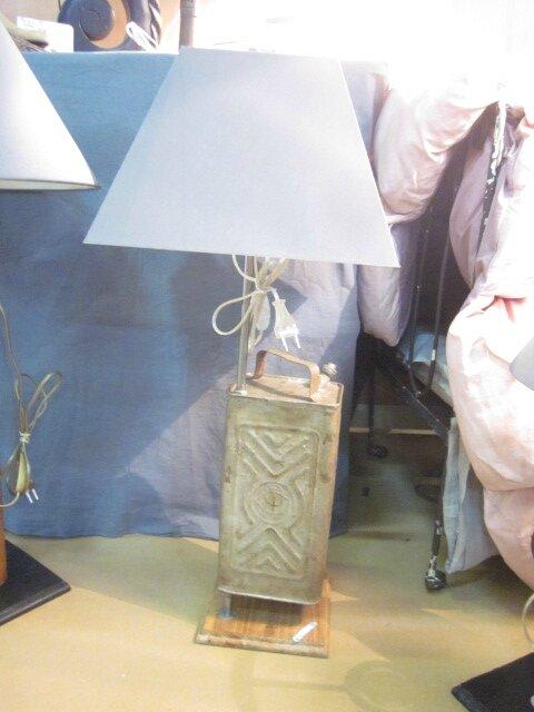 Lampe/ancien bidon métal (élec transparente)