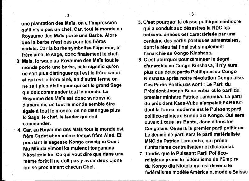 LE GRAND MAITRE MUANDA NSEMI EXPLICITE CETTE PAROLE DE SAGESSE KONGO b